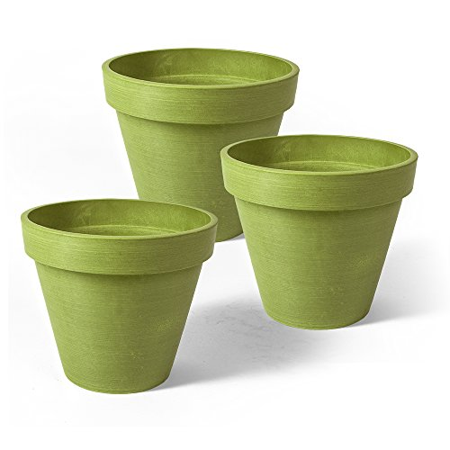 (Algreen Round Banded Valencia Planter (3 Pack), 4