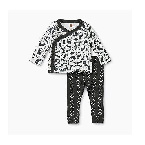 - Tea Collection Wrap Top Baby Outfit, 0-3 Months, Panda Pups