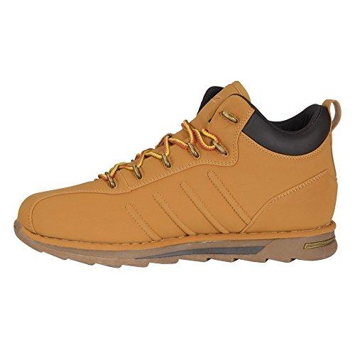 Lugz Herren Umstieg Mid Sneaker Golden Wheat / Rinde / Gummi Durabrush