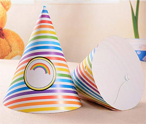 (Classic Cute Party Ornament Fan-Shaped Birthday Party Hat Children Adult Headdress Birthday Dress Up Supplies(Rainbow) )