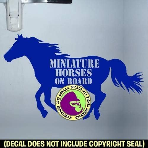 MINIATURE HORSES ON BOARD Body Trailer Vinyl Decal Sticker B