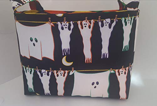 Halloween Fabric Organizer Basket Bin Caddy Storage Container - Hanging -