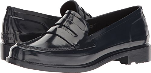 Hunter Women's Original Penny Loafer Navy Shoe