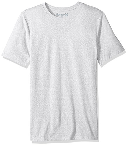 Hurley Men's Short Sleeve Staple Tri-Blend Tee Shirt, Birch Heather, M