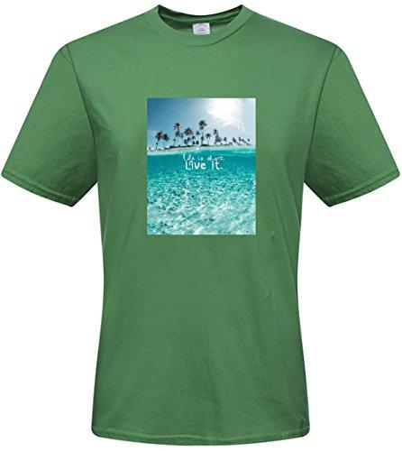 DIY mens Island wallpaper-Love it T-shirts,custom cotton Tshirt
