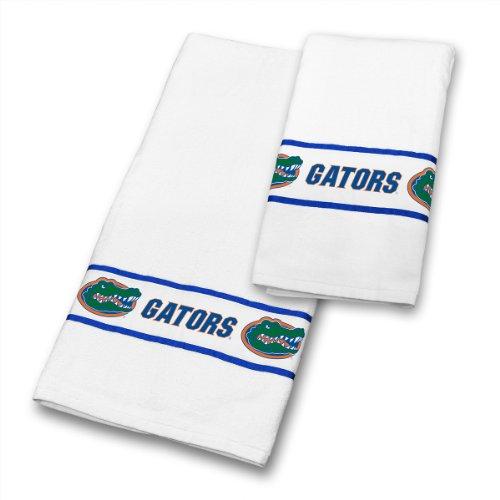 Sports Coverage NCAA Florida Gators Towel Set, 30 x 54, White