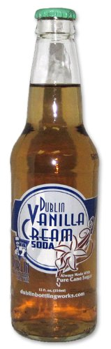 Retro Soda Sweetened with Pure Cane Sugar 12oz Glass Bottles (Pack of 24) (Dublin Vanilla Creme Soda)