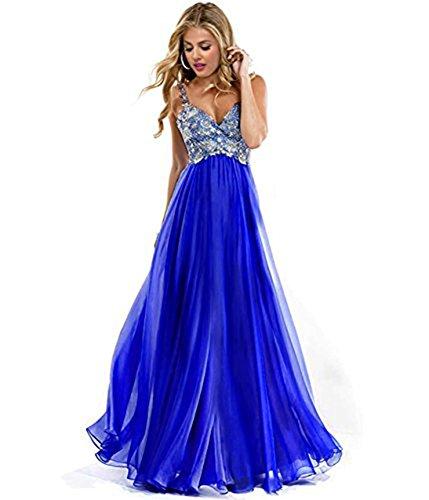 2016 Una Line Chiffon Sposa; D'onore Lungo Reg Chiffon 2016 Bridesmaid Aurora Linea Cinghie Damigella Dress Straps Vestito A Aurora Prom Long Blu Blue Royal Bridal Reale Reg; Vestito Di Dress nPxgycWRX