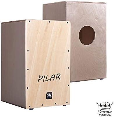 Corona percusion - Cajon flamenco adulto con nombre, en madera de abedul barnizada y tapa frontal con nombre personalizado a elegir: Amazon.es: Instrumentos musicales