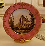 Dollhouse Miniature 1:12 Scale Artisan Plate Pink Cevres French Chateau