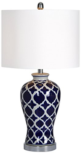 - Ren-Wil LPT592 Indigo Table Lamp by Jonathan Wilner, 14 by 26.5-Inch