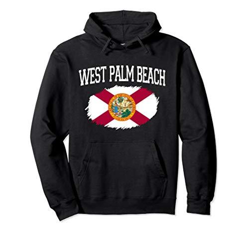 WEST PALM BEACH FL FLORIDA Flag Vintage USA Sports Men Women Pullover Hoodie (West Palm Shopping Beach)