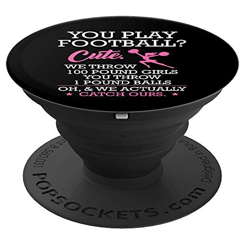 Funny Cheerleading Gift We Actually Catch Ours - PopSockets Grip and Stand for Phones and Tablets