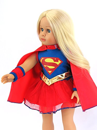"""Doll Clothes SUPERGIRL Outfit Fits 18/"""" American Girl /& Other 18/"""" Inch Dolls"""