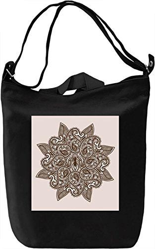 Flower Bloom Borsa Giornaliera Canvas Canvas Day Bag| 100% Premium Cotton Canvas| DTG Printing|