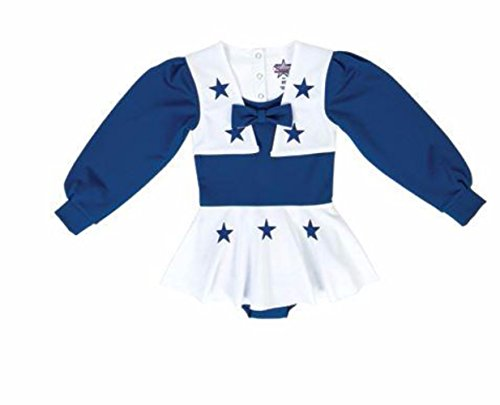 Licensed Sports Apparel Dallas Football Cowboys Youth Girls Royal Blue and White Cheer Uniform - -