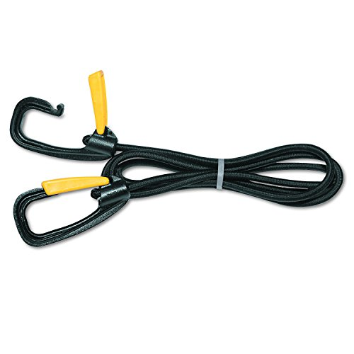 Kantek Bungee Cord - Kantek Bungee Cord with Locking Clasp, Black, 72