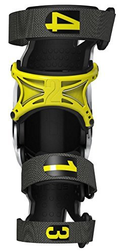 Mobius X8 Knee Braces-White/Acid Yellow-M by Mobius Products (Image #2)