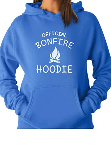 - TeeStars - Funny Camping Gift Idea - Official Bonfire Women Hoodie XX-Large California Blue