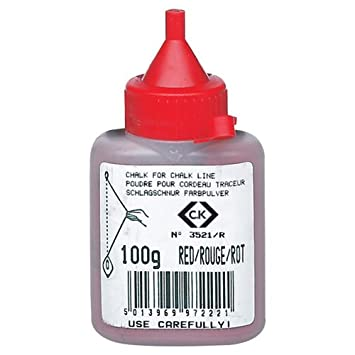 Advanced CK tizas para tacos de billar polvo rojo 100 G/4 oz [3 ...