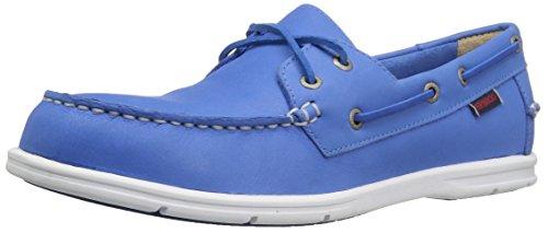 Liteside Deux Chaussures Bateau Oeil Cuir Bleu Hommes Sebago