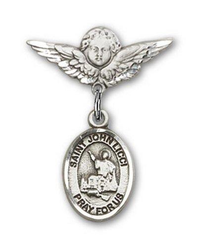 Icecarats Créatrice De Bijoux En Argent Sterling St. John Charme Licci Ange Pin Badge 7/8 X 3/4