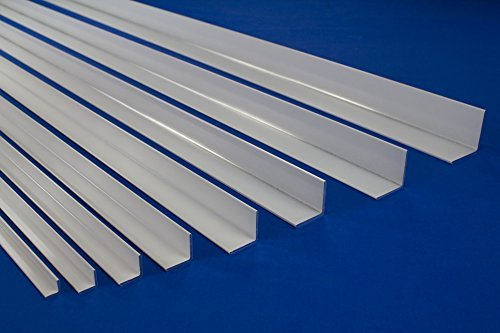 Color: White Ma/ße:B10-20 x 20 x 2 mm B10-B17 2 Meter Aluminum Anodized Hobbyist Angle trim Angle section various sizes