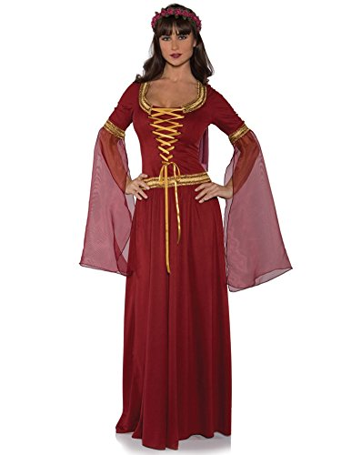 [Underwraps Costumes Women's Renaissance Queen Costume - Maiden, Burgundy, Large] (Medieval Queen Plus Size Costumes)