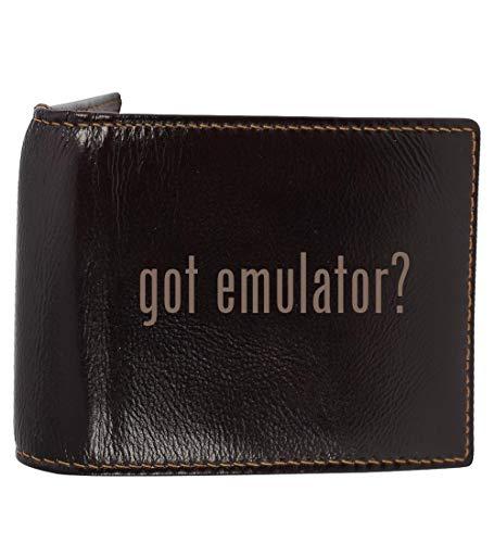 #emulator - Genuine Engraved Hashtag Soft Cowhide Bifold Leather Wallet
