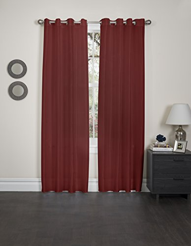 Kashi Home Holly Collection Faux Silk Window Panel / Curtain / Drape 57