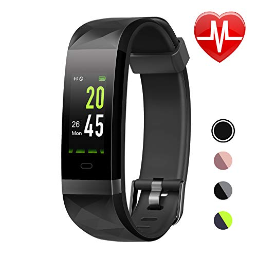 LETSCOM Fitness Tracker HR Color Screen, Heart Rate Monitor, IP68 Waterproof Smart Watch with Step Counter Sleep Monitor, Pedometer Watch for Men Women Kids (Best Working Ip Address)