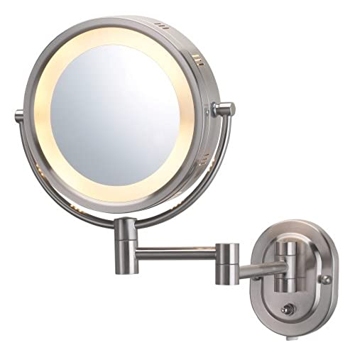 Light up wall mirror amazon jerdon hl65n 8 inch lighted wall mount makeup mirror with 5x magnification nickel finish aloadofball Gallery