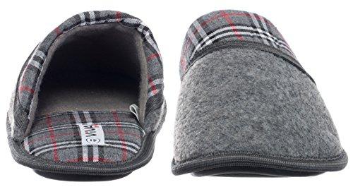 brandsseller Men's Slippers Grey Size: 12 UK 1qkHSs8Wo