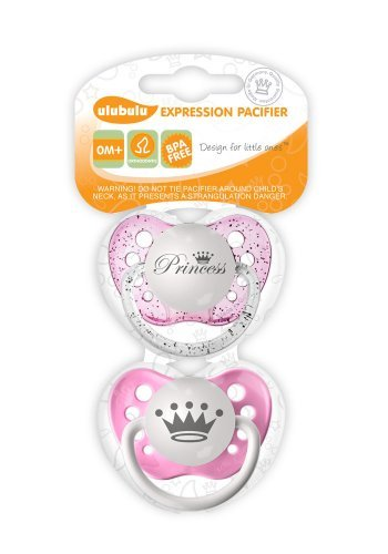 Ulubulu Chupete Set, la princesa y la corona, 0 + meses Color ...