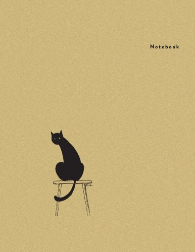 Notebook: Cat on the Chair - Minimal Design Unlined Notebook - Large (8.5 x 11 inches) - 110 Pages (notebooks and journals 8.5 x 11, notebooks for ... (Minimal Design Notebooks) (Volume 5)