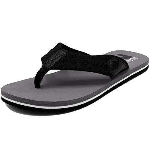 Mug Knob - Nautica Men's Flip Flop, Beach Sandal, Boat Slide-Wooncept-Black-13