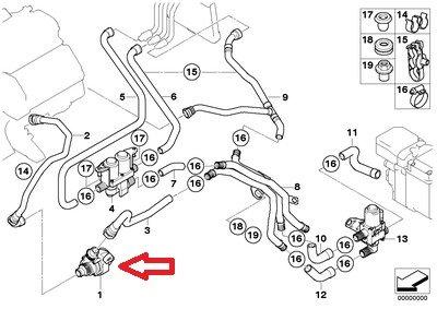 BMW 64-11-6-922-699 Additional Water Pump