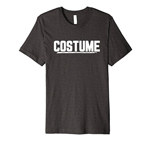 Mens Halloween T-Shirt That Says Costume Easiest Last Min Tee Small Dark Heather