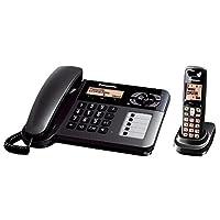 Panasonic KX-TGF120GT DECT 2-in-1 Telefonset mit grossen Tasten und Anrufbeantworter schwarz