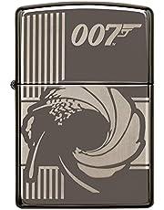 ZIPPO James Bond 007, Black Ice – zapalniczka sztormowa, do wielokrotnego napełniania, w wysokiej jakości pudełku prezentowym