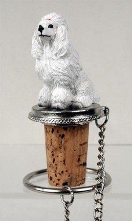 (White Poodle Wine Bottle Stopper - DTB01A by Conversation Concepts)