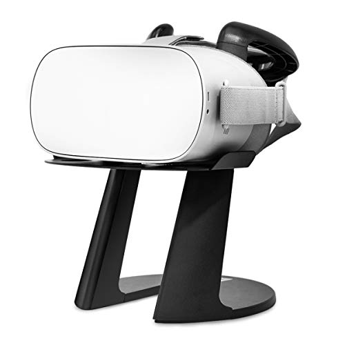 VeeR VR Headset Stand, Virtual Reality Universal Display Mount and Holder for Oculus Go/Rift S/Quest, Sony PSVR, HTC Vive Pro, Samsung Gear VR and Google Daydream