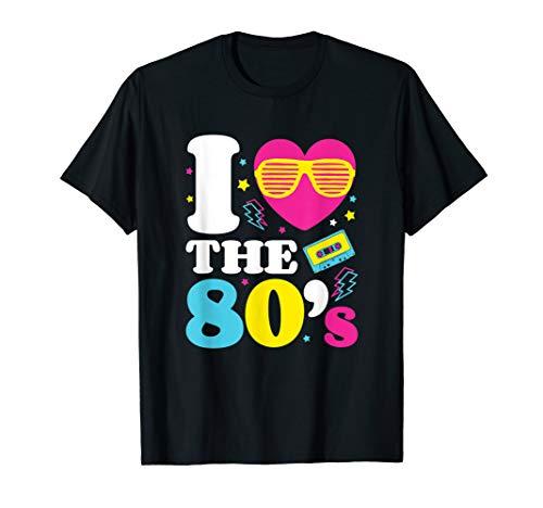 Eighties Tshirt I Heart the 80's Retro T-Shirt]()