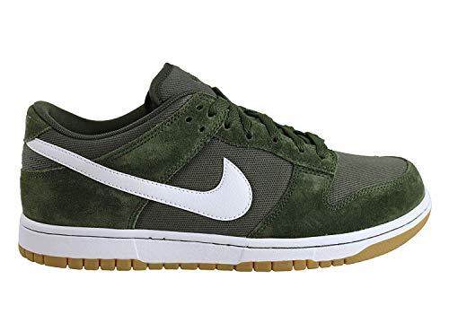 Nike Dunk Low Canvas Mens Trainers Aa1056 Sneakers Shoes (UK 9 US 10 EU 46, Cargo Khaki White 300)