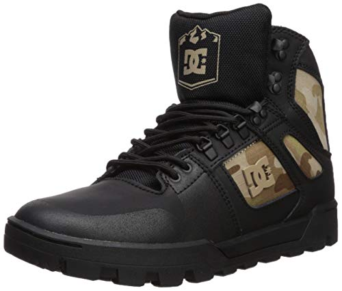 DC Men's Pure HIGH-TOP WR Boot Ankle, Black camo 9 D M US ()