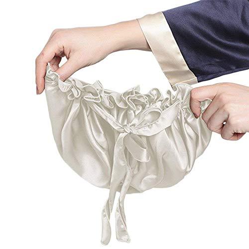 Hx Berretti Ragazza Comodi Elfenbein In A Capelli Fascia Copricapi Donna Cappellini Copricapo Con Da Seta Chic Fashion Per rBqA5wr