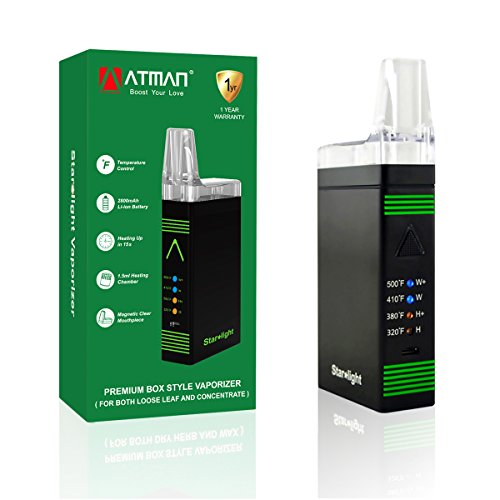 ATMAN Starlight Portable Herbal Vaporizer Pen for Dry Herb &Wax,Mighty...