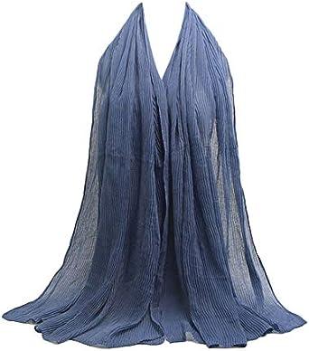 Les Femmes Musulmane Hijab Écharpe en lin foulard islamique Hijab Châle Wraps