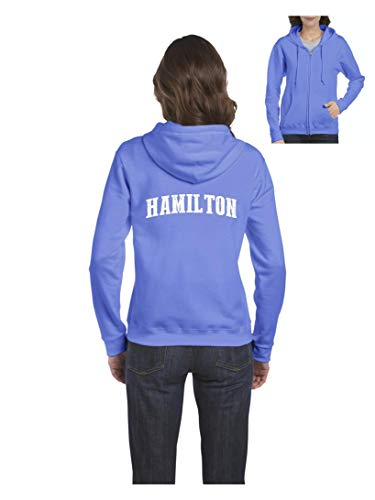 Hamilton City Ontario Canada Traveler Gift Women's Full-Zip Hooded (MCB) Carolina Blue]()