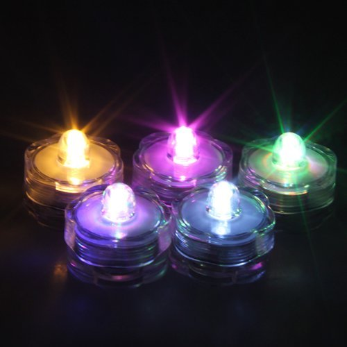 - AGPTEK 24x LED Submersible Waterproof Wedding/Party/Floral Decoration Tea Vase Battery light RGB color change white